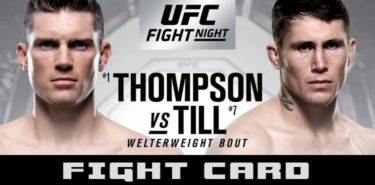 UFC Liverpool Thompson vs Till Fight Card