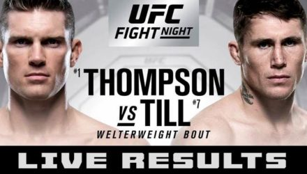 UFC Liverpool Thompson vs Till Live Results