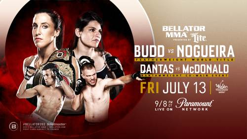 Bellator 202 Budd vs Nogueira fight poster