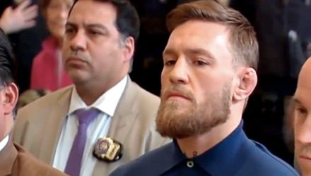 Conor McGregor appearing in a New York court