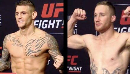 Dustin Poirier vs Justin Gaethje - UFC on FOX 29 weigh-in