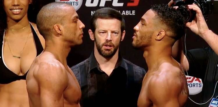 Edson Barboza vs Kevin Lee UFC Atlantic City weigh-in