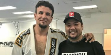 Frank Mir and his striking coach, Angelo Reyes