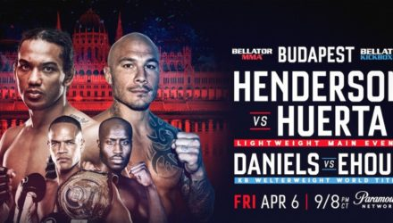Bellator 196 Henderson vs Huerta Fight Poster