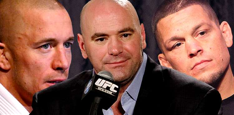 Dana White - Georges St-Pierre - Nate Diaz