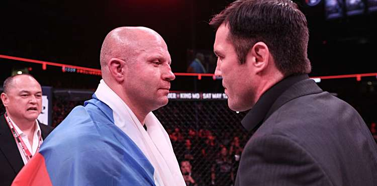 Fedor Emelianenko and Chael Sonnen meet at Bellator 198