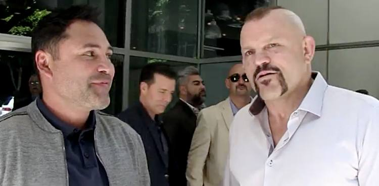 Oscar De La Hoya and Chuck Liddell - Golden Boy MMA