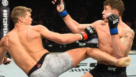 Stephen Thompson kicks Darren Till - UFC Liverpool