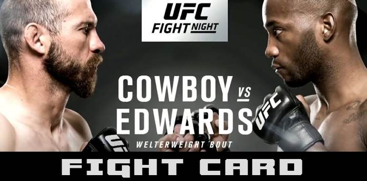 UFC Singapore Cowboy vs Edwards Fight Card