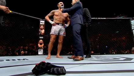 Vitor Belfort Lays Gloves in UFC 224 Octagon