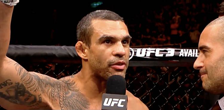 Vitor Belfort UFC 224 Octagon Interview Arm Raised