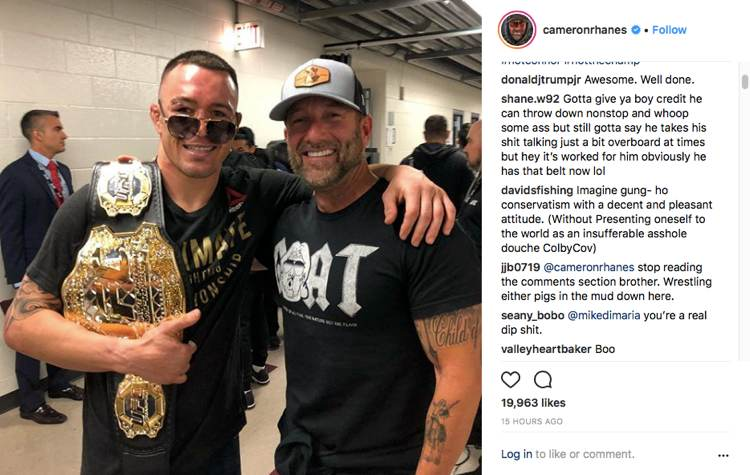 Colby Covington and Cameron Hanes - Donald Trump Jr