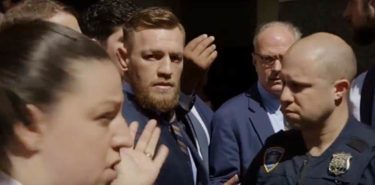 Conor McGregor outside NY Court House
