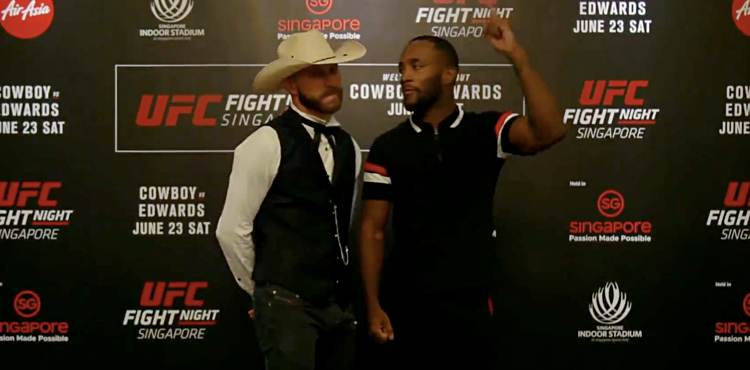 Donald Cerrone and Leon Edwards face off at UFC Singapore