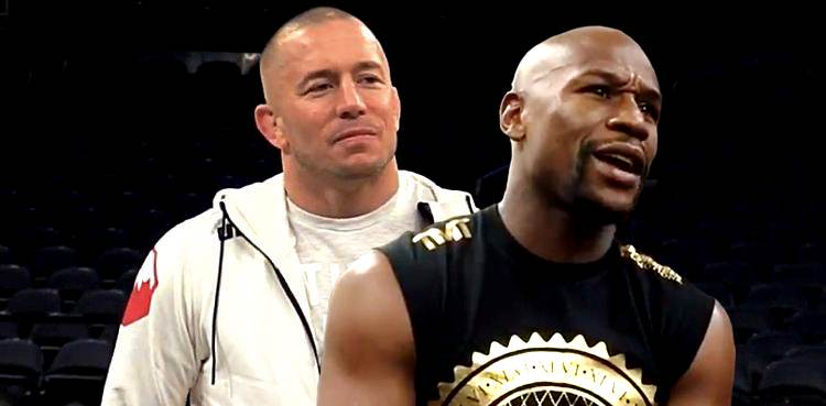Georges St-Pierre and Floyd Mayweather