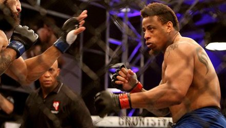 Greg Hardy at Dana White's Tuesday Night Contender Series
