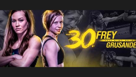 Invicta FC 30 Frey vs Grusander Fight Poster