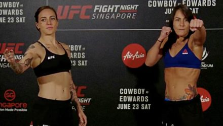 Jessica Rose-Clark vs Jessica Eye - UFC Singapore weigh-in