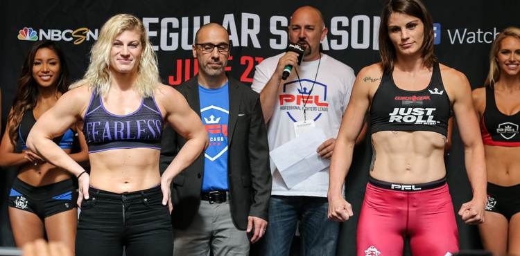 Kayla Harrison vs Brittney Elkin - PFL 2 weigh-in