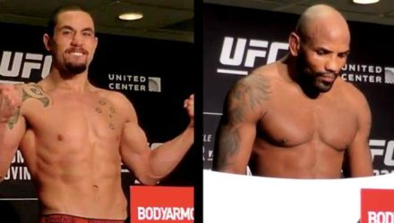 Robert Whittaker and Yoel Romero UFC 225 official weigh-in