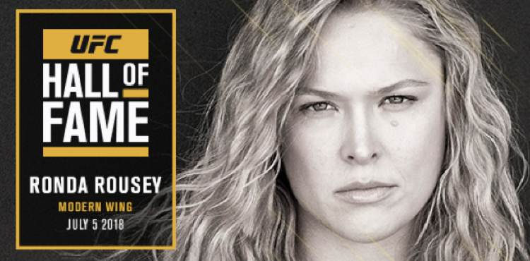 Image result for UFC Announces Ronda Rousey Will Be The Next Inductee In The UFC Hall Of Fame On July 5