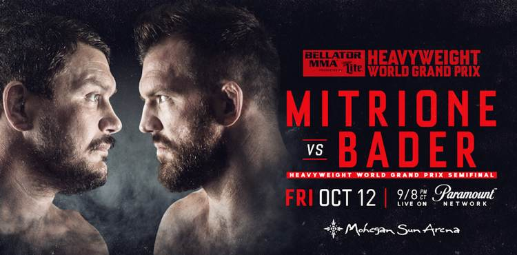 Bellator Mitrione vs Bader Fight Poster
