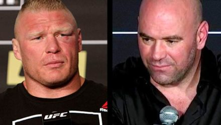 Brock Lesnar - Dana White - split screen
