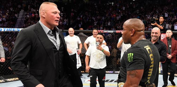 Brock Lesnar and Daniel Cormier square off at UFC 226