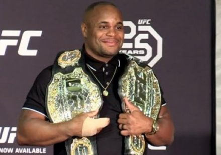 Daniel Cormier UFC 226 Two Belts
