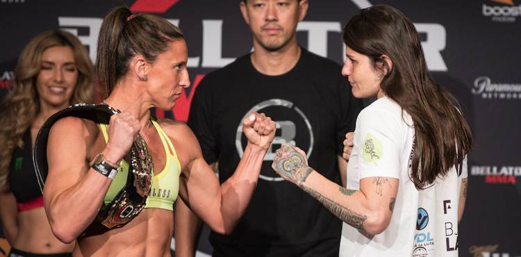 Julia Budd vs Talita Nogueira Bellator 202 weigh-in