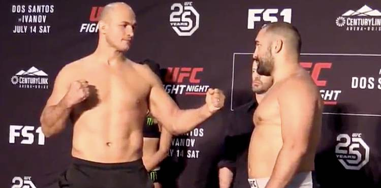 Junior dos Santos vs Blagoy Ivanov UFC Boise face-off