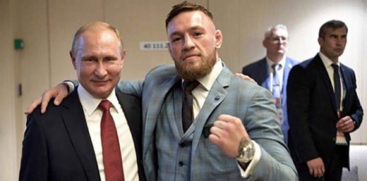 Conor McGregor Buddies Up with Russia?s Vladimir Putin at World Cup Finals