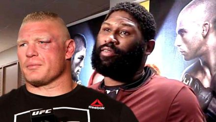 Curtis Blaydes and Brock Lesnar