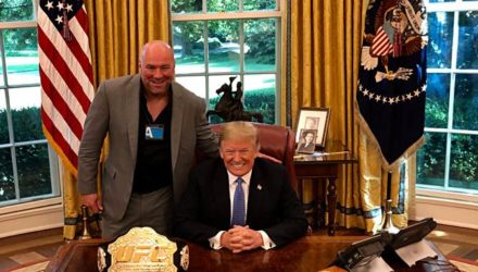 Dana White and Donald Trump in the White House Oval Office
