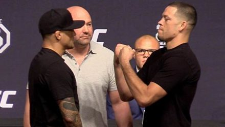 Dustin Poirier vs Nate Diaz UFC 25th Faceoff