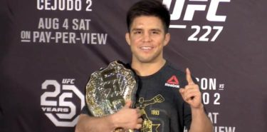 Henry Cejudo UFC 227 post-fight with belt