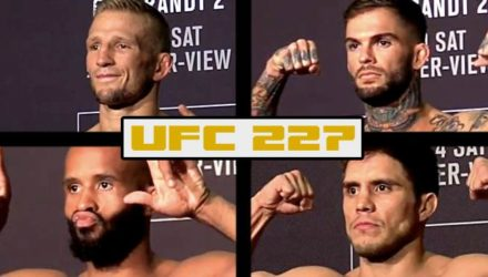 UFC 227 weigh-in main eventers