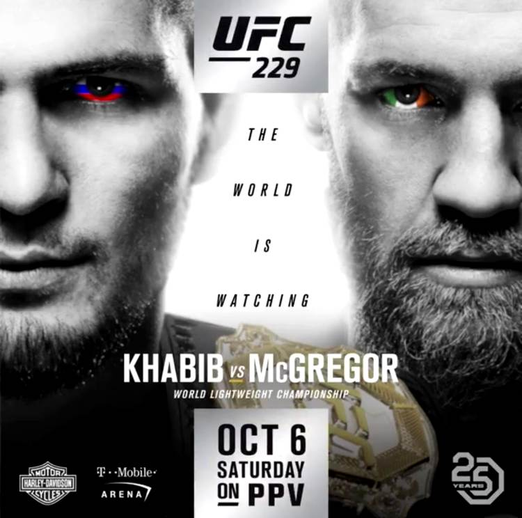 UFC 229 - Khabib vs McGregor Fight Poster