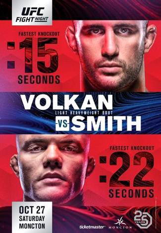 UFC Moncton Volkan vs Smith Fight Poster