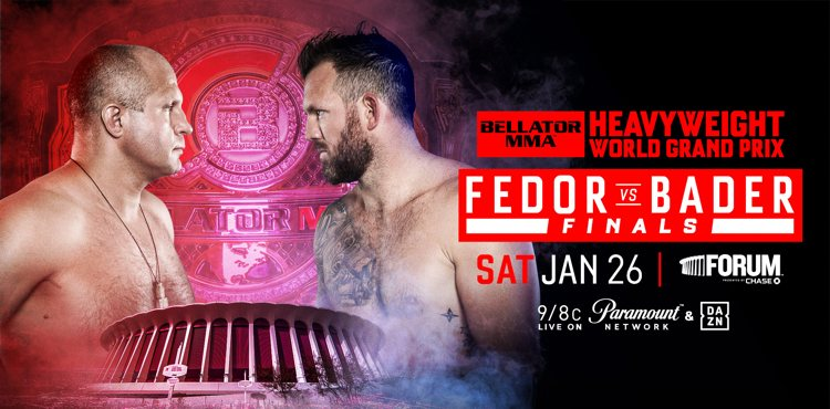 Fedor Emelianenko Meets Ryan Bader for Bellator Heavyweight Title in Los Angeles