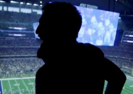 Conor McGregor sillouette at Dallas Cowboys
