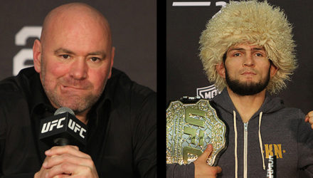 Dana White and Khabib Nurmagomedov at UFC 229