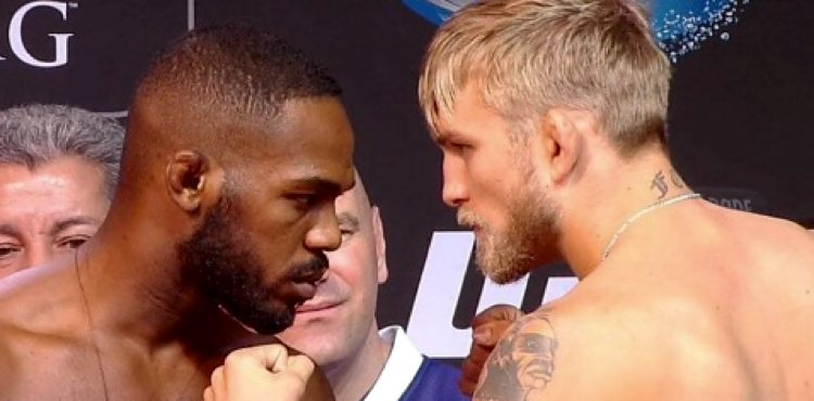 Jon Jones vs Alexander Gustafsson UFC 165 weigh-in