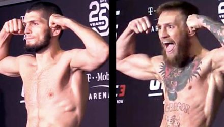Khabib Nurmagomedov and Conor McGregor UFC 229 Early Weigh-in