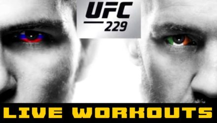 UFC 229 Khabib vs McGregor Live Workouts