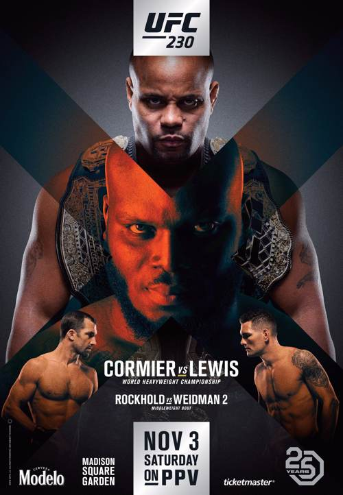 UFC 230 Cormier vs Lewis Fight Poster
