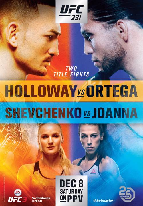 UFC 231 Holloway vs Ortega Fight Poster