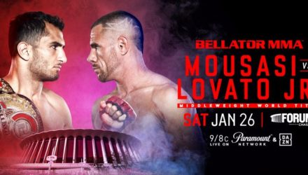 Bellator Mousasi vs Lovata fight poster