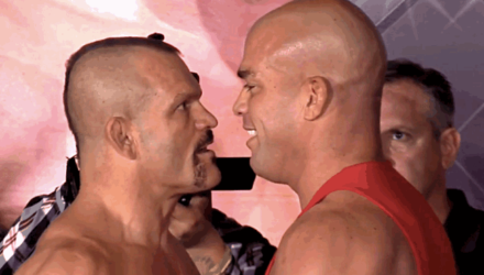 Chuck Liddell vs Tito Ortiz 3 weigh-in face-off