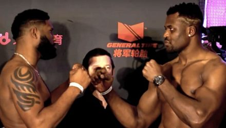 Curtis Blaydes vs Francis Ngannou - UFC Beijing Weigh-in